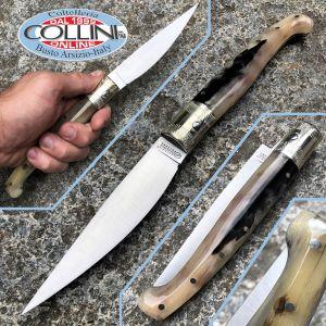 Deroma - Pattada knife craft knife in ram's horn - 27cm - craft knife