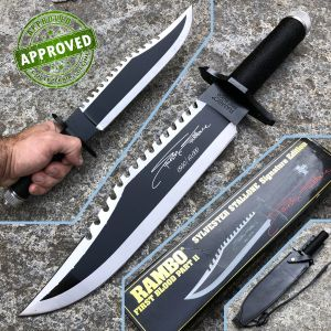 Hollywood Collectibles Group - Rambo II PRIVATE COLLECTION - First Blood Sylvester Stallone Signature - knife