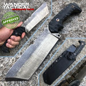 Wander Tactical -T-REX knife - Raw Finish & Black Micarta - PRIVATE COLLECTION - custom knife
