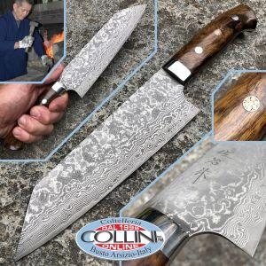 Takeshi Saji - Chef's Bunka Knife 180mm with Desert Ironwood Handle - SPG2 Damascus - kitchen knife