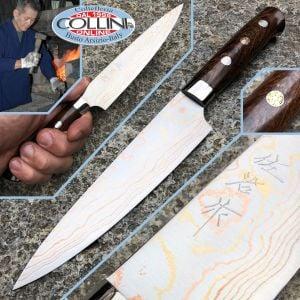 Takeshi Saji - Sakura Petty Rainbow Damascus - 135mm - kitchen knife