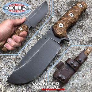 Wander Tactical - Lynx knife Iron Washed & Micarta Desert - custom knife