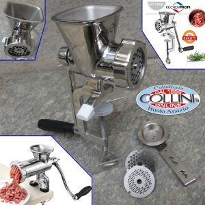Kuchenprofi  - Meat mincer stainless steel size 5 with biscuit press attachment