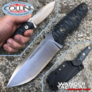 Wander Tactical - Scrambler knife - SanMai V-Toku2 & Black Micarta - custom knife