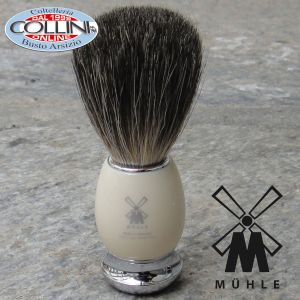 Muhle - VIVO Shaving brush , pure badger, handle material high-grade resin ivory