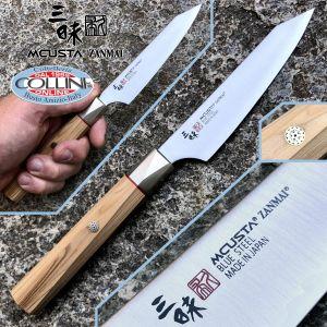 Mcusta Zanmai - Beyond Utility knife 11cm - Aogami Super steel - ZBX-5001B - kitchen knife