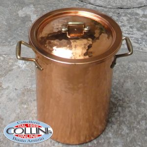 Made in Italy - Spaghettiera-aspargera in copper with basket cm. 18 in diameter