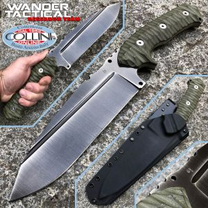 Wander Tactical - Smilodon Iron Washed and Green Micarta - craft knife
