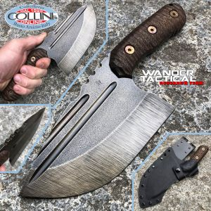 Wander Tactical - Tryceratops XL El Carnicero - Raw & Brown Micarta - custom knife