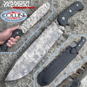 Wander Tactical - Godfather knife - Marble & Black Micarta - custom knife