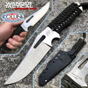 Wander Tactical - Prototype X-020 knife - Green paracord - custom knife