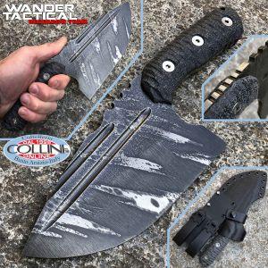 Wander Tactical - Tryceratops XL El Carnicero knife - Icebrush & Black Micarta - craft knife