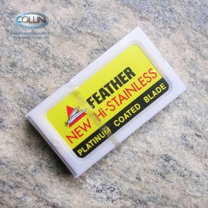 Feather - 10 Lame in acciaio inox per Shavette - lametta