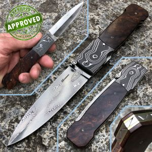 Howard Hitchmough - Dagger Damascus Custom knife - Ironwood - PRIVATE COLLECTION - custom knife