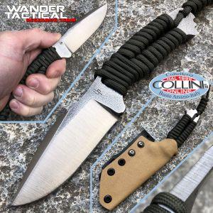 Wander Tactical - Raptor knife - SanMai V-Toku2 & Green Paracord - kydex brown - custom knife