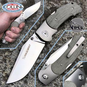 Viper - Turn knife by Silvestrelli - Titanium and Micarta - M390 steel - V5986CG - knife
