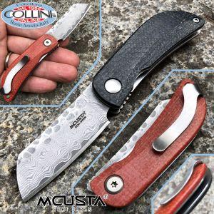 Mcusta - Petit Damascus knife - VG10 steel - Micarta Orange and Black - MC-0211D - knife