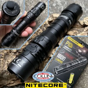 Nitecore - P10i USB-C Rechargeable Tactical Flashlight - 1800 Lumens and 290 meters - LED