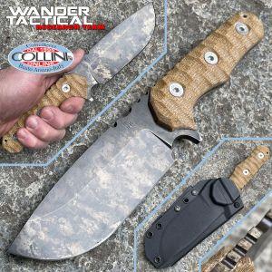 Wander Tactical - Lynx - Marble & Brown Micarta - custom knife