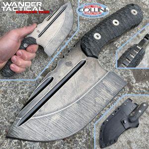 Wander Tactical - Tryceratops XL El Carnicero - Raw Black Blood & Black Micarta - handmade knife