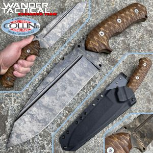 Wander Tactical - Smilodon knife - Marble and Brown Micarta - handcrafted knife