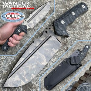 Wander Tactical - Uro Knife - Marble and Black Micarta - craft knife