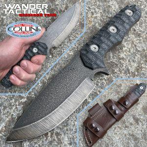 Wander Tactical - Lynx Bushmann - Raw & Black Micarta - custom knife