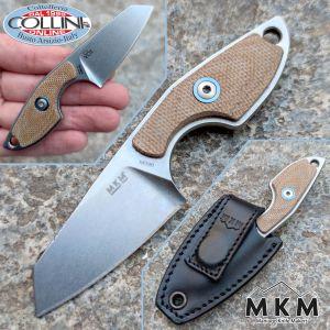 MKM & Mercury - Mikro 2 by Vox - Natural Micarta - MK MR02-NC - neck knife