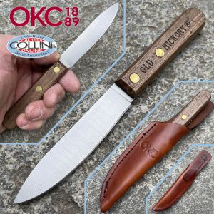 Ontario Knife Company - Bird and Trout Knife with leather sheath - 7027 - knife
