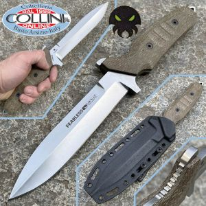 Viper - Fearless by T. Rumici - Stone Washed & Green Micarta - VT4018CG - knife
