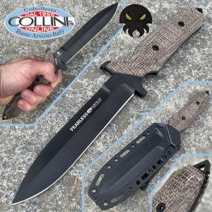 Viper - Fearless by T. Rumici - Black DLC & Brown Micarta - VT4020CM - knife