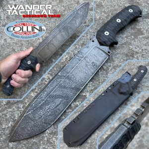 Wander Tactical - Godfather knife - Moon Effect & Black Micarta - custom knife