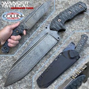 Wander Tactical - Smilodon knife - Moon Effect & Black Micarta - custom knife