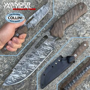 Wander Tactical - Special Commando knife - Brown Micarta - custom knife
