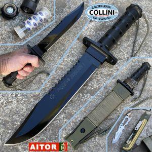 Aitor - Jungle King I knife Black - green sheath - 16016V - knife
