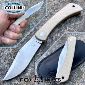 Fox - Libar SlipJoint - Natural Micarta - M390 steel - FX-582MI - Knife