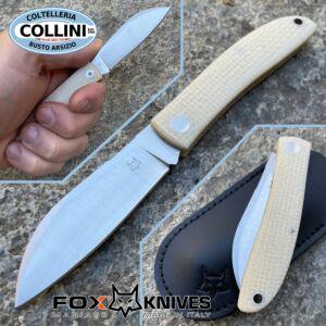 Fox - Livri SlipJoint - Natural Micarta - M390 steel - FX-273MI - knife