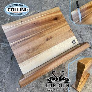 Due Cigni - magnetized acacia wood block - C350 - knife accessory