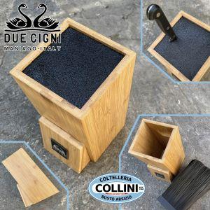 Due Cigni - Bamboo Wood hollow block - C351 - knife accessory