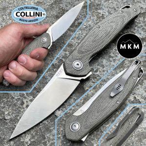 MKM - Goccia Flipper by Jens Anso - Green Canvas Micarta - MK-GC-GC - knife