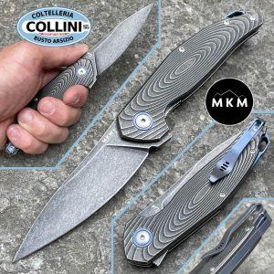 MKM - Goccia Flipper by Jens Anso - Dark Stonewashed Titanium - MK-GC-TDSW - knife