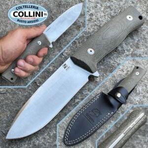 SaturnKnives - Mimas - Sleipner & Green Micarta - knife