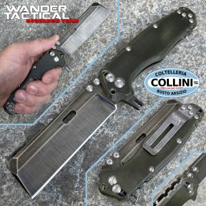 Wander Tactical - Franken Folder - Raw & Burnt Green Micarta - Limited Edition - handmade knife