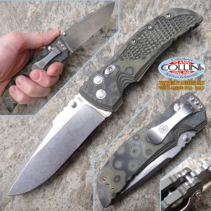 "Hogue - EX-01 3.5"" Folding Drop Point Stonewash - G-10 G-Mascus Green"