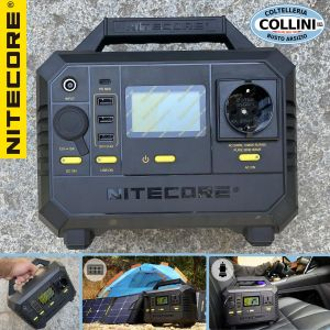 Nitecore - NES500 - AC, USB, USB-C 500W, 518Wh and 144000mAh Power Station - Portable Generator