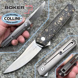 Boker Plus - Kwaiken Flipper Carbon Copper by Lucas Burnley - 01BO196 - folding knife