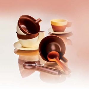 Made in Italy - Polycarbonate chocolate moulds - Cup and saucer