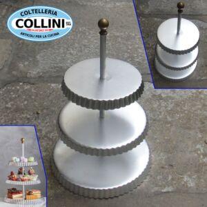 Made in Italy -  Alzata La Dolce Vita  in alluminio 3 piani