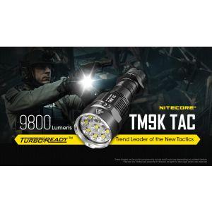 Nitecore - TM9K TAC - Tiny Monster Flashlight - 9800 Lumens and 280 meters - USB Rechargeable Flashlight
