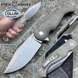 Fox - Eastwood Tiger by Gudy Van Poppel - Green Micarta - FX-524G - knife
